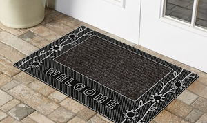 "Welcome Home 18"" x 28"" Outdoor Rubber Mat. Multiple Designs Available."