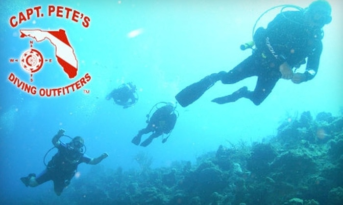 Capt. Pete's Diving Outfitters - Fort Myers: $149 for a Scuba Certification Course Including Classroom, Pool and Boat Dive Sessions at Capt. Pete's Diving Outfitters ($329 Value)