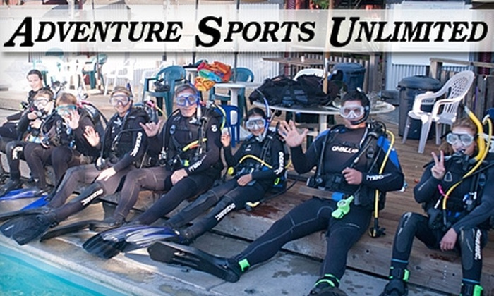 Adventure Sports Unlimited - Central Santa Cruz: $179 for a PADI Open Water Scuba-Diving Certification Course with Equipment Rental at Adventure Sports Unlimited ($360 Value)