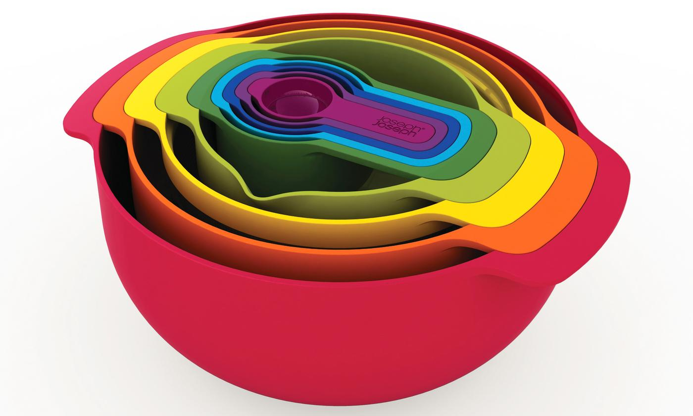 One or Two Joseph Joseph Nest 9 Plus Compact Food Preparation Bowl Sets