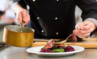 image for Two-Course Meal with Prosecco for Two or Four at Podium Restaurant at Hilton Manchester Deansgate (Up to 47% Off)