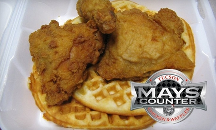 Mays Counter Chicken & Waffles - Blenman-Elm: $10 for $20 Worth of Southern Comfort Fare at May's Counter Chicken and Waffles