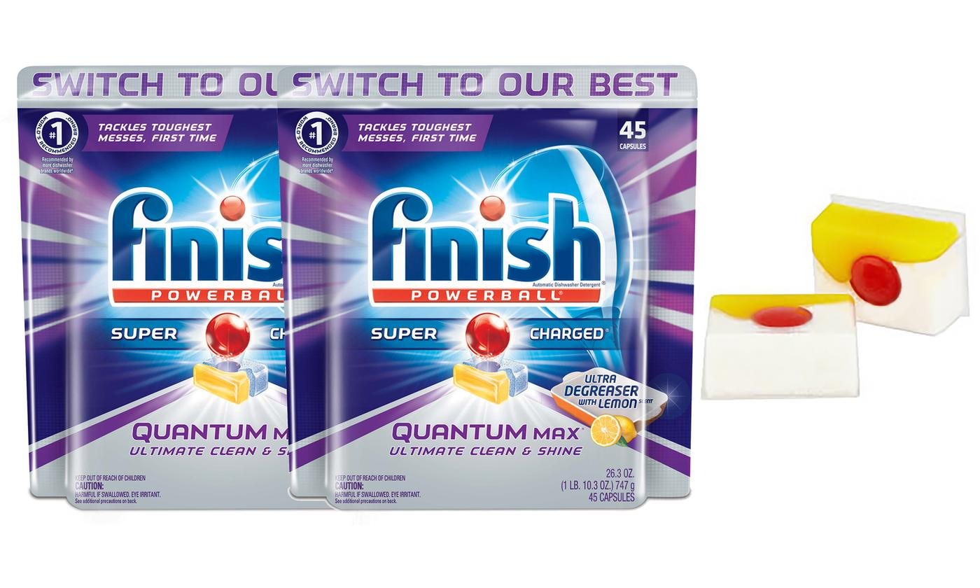 Up to 360 Finish Quantum Powerball Dishwasher Tablets With Free Delivery