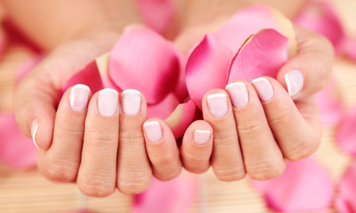 A Refinement Salon - Westgate: Manicure with Paraffin Dip, Shellac Manicure, or Acrylics with French Tips at A Refinement Salon (Half Off)