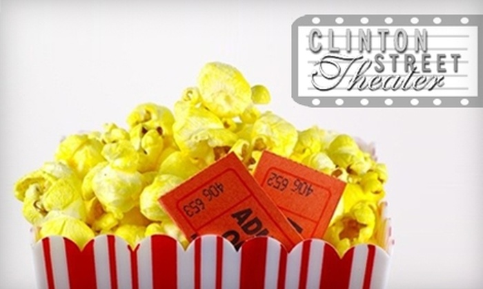 Clinton Street Theater - Hosford - Abernethy: $10 for Two Adult Movie Tickets, Two Medium Drinks, and a Large Popcorn at the Clinton Street Theater ($21.50 Value)