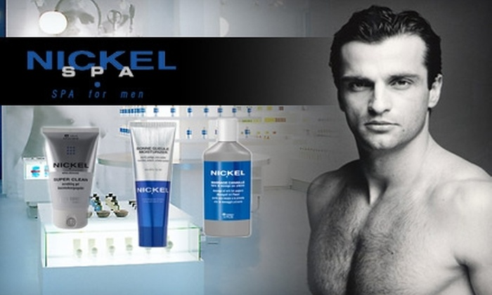Nickel Men's Spa - West Village: $49 for an Express Facial and a Bottle of Moisturizer from Nickel Spa for Men ($97 Value)