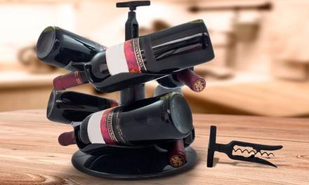 Botellero de vino con sacacorchos carrousel por 11,99 €