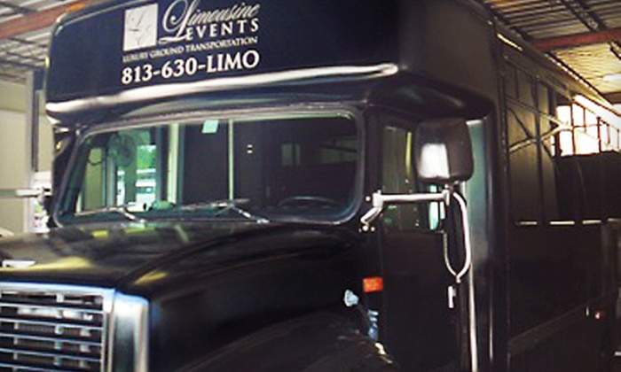 Limousine Events - Pinecrest West Park: Three- or Four-Hour Party-Bus Rental for Up to 22 Passengers from Limousine Events (Half Off)