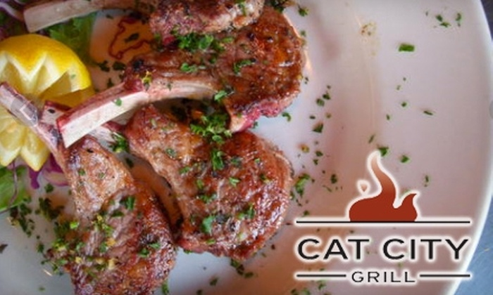 Cat City Grill - Fort Worth: $25 for $50 Worth of Steak and Seafood for Dinner at Cat City Grill (or $12 for $24 Toward Lunch or Sunday Brunch)