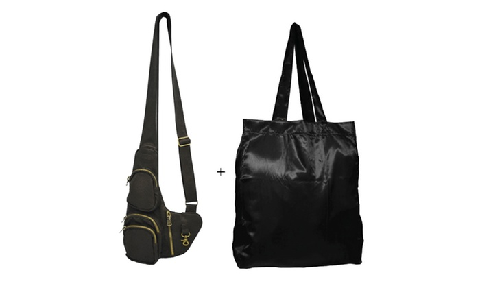 $19.99 for a Sac of Life Uptown Cross-Body Bag with Bonus Shopping Tote