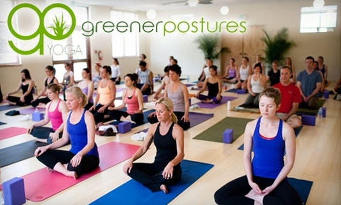 Greener Postures Yoga - South Portland: $50 for a Hot Vinyasa Yoga 10-Class Pass at Greener Postures Yoga in South Portland ($120 Value)