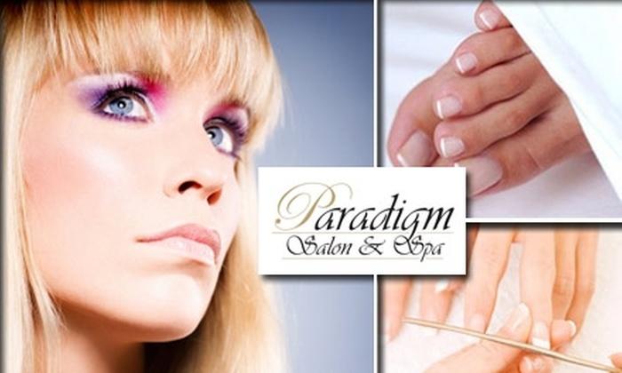 Paradigm Salon & Spa - Philadelphia: $17 for a Mani-Pedi or Pedi/Refill at Paradigm Salon