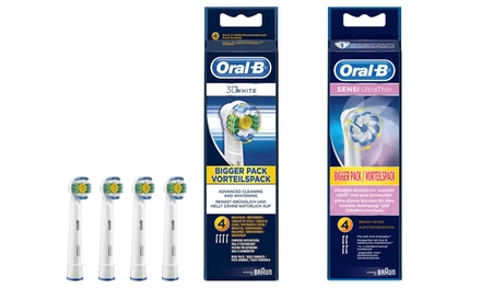 Four or Eight Braun OralB 3D White or Sensi Ultrathin Replacement Toothbrush Heads