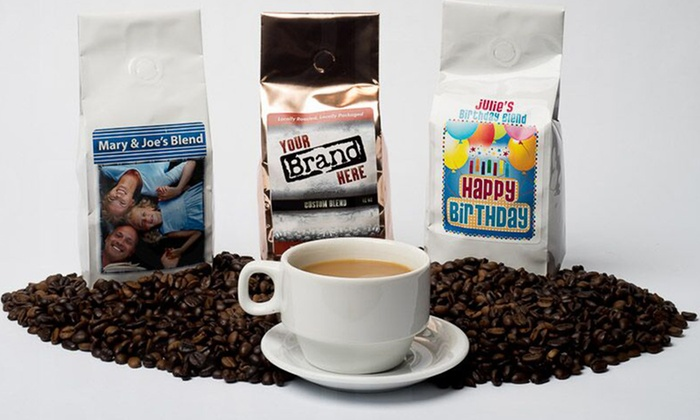 Custom Coffees: One or Two 16-Ounce Bags of Custom-Blended Coffee with Personalized Label from Customcoffees.com (Up to 40% Off)