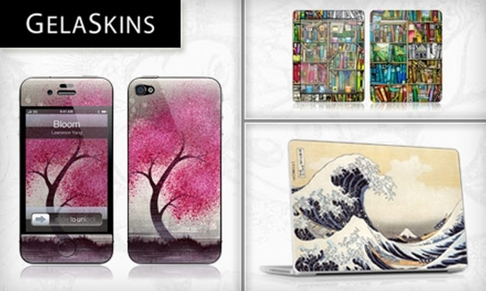 GelaSkins: $15 for $30 Worth of Customizable Skins for iPhones, iPods, Laptops, and More from GelaSkins