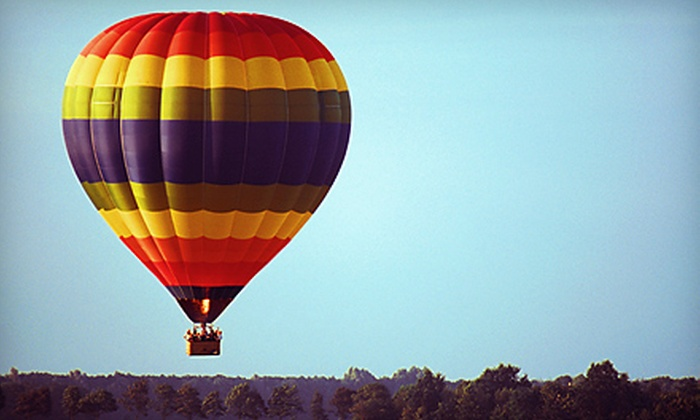 Morning Star Balloons - Park City: $125 for One-Hour Hot Air Balloon Ride and Champagne Toast from Morning Star Balloons ($200 Value)