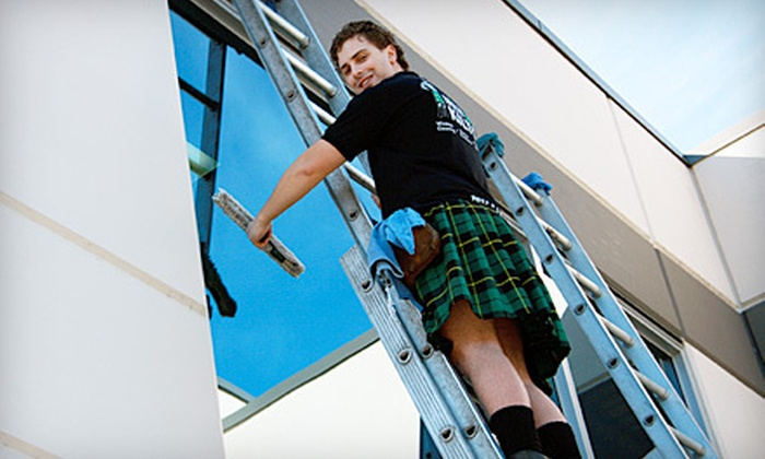 Men in Kilts - Whalley: Two, Four, or Seven Hours of Window Cleaning, Gutter Cleaning, or Pressure Washing from Men In Kilts (Up to 72% Off)