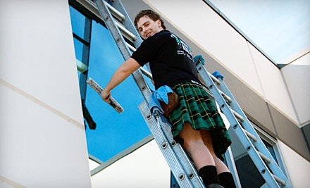 2 Hours of Window Cleaning, Gutter Cleaning, or Pressure Washing (a $180 value) - Men in Kilts in