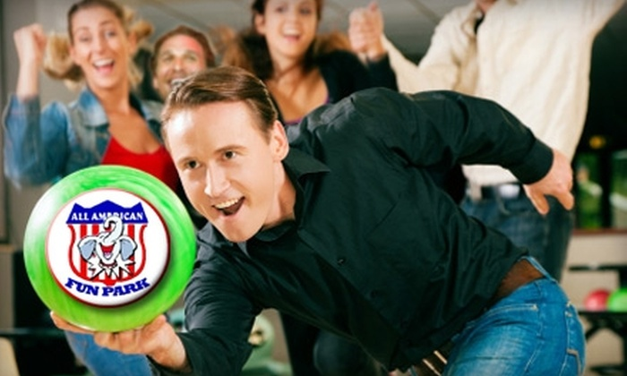 All American Fun Park - Albany: $10 for One Hour of Bowling for Up to Eight Players at All American Fun Park