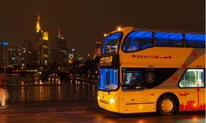 Citytour Frankfurt: Hop-on-Hop-Off Sightseeing für zwei, vier oder sechs Personen mit Citytour Frankfurt (bis zu 52% sparen*)