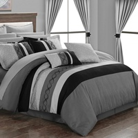 Deals on Didith Color-Block Embroidered Bed-in-a-Bag Comforter 24-Pc