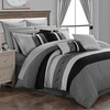 Didith Color-Block Embroidered Bed-in-a-Bag Comforter Set (24-Piece)