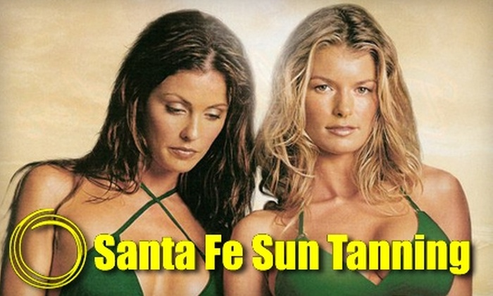 Santa Fe Sun Tanning - Multiple Locations: $30 for 100 Tanning Minutes or Three Mystic Tan Sessions at Santa Fe Sun Tanning in Kanata (Up to $63 Value)