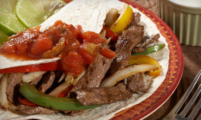 3 Margaritas - Pleasant Park Corridor: $26 for Fajita Dinner for Two with Top-Shelf Margaritas and Dessert (Up to $50.85 Value)