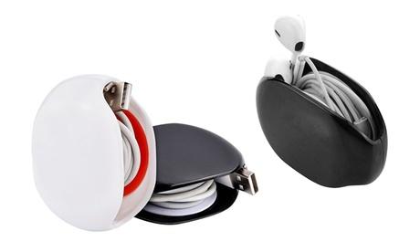 Organizador de cables y auriculares