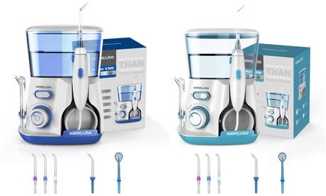 Waterpulse Flosser, jet interdentaire pour un nettoyage des dents en profondeur, conception facile