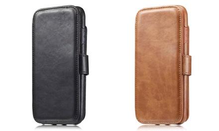 1 of 2 leren portemonnee's voor iPhone 7/8, 7+/8+ en X