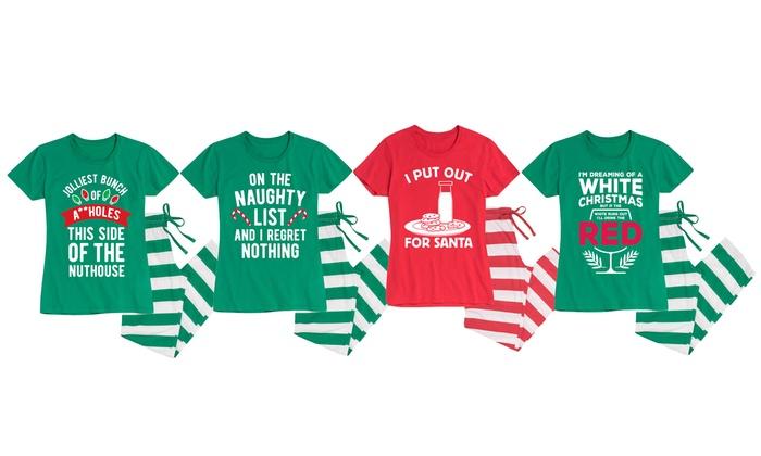 0ba095f67 Women's Naughty Christmas Pajama Set | Groupon