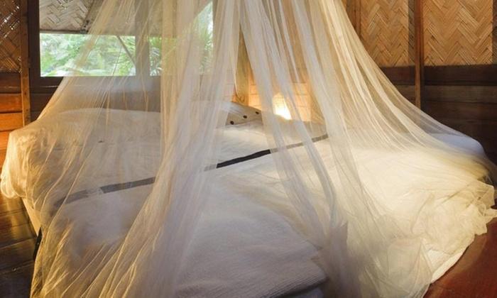 Letto Con Zanzariera : Set da letto pezzi con zanzariera alberi beige ebay
