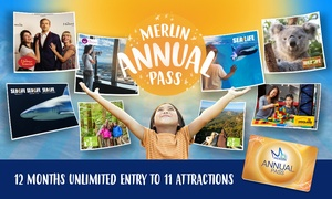 Merlin Annual Pass: Annual Pass to 11 Top Attractions for 1 Person ($109) or Family of 4 ($316)