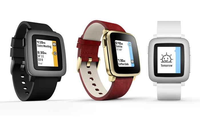 Pebble Time Smartwatch for iPhone & Android (New/Refurb ...