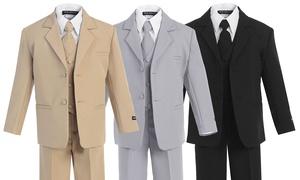 Bello Giovane Boys' Formal Dress 5-Piece Suit
