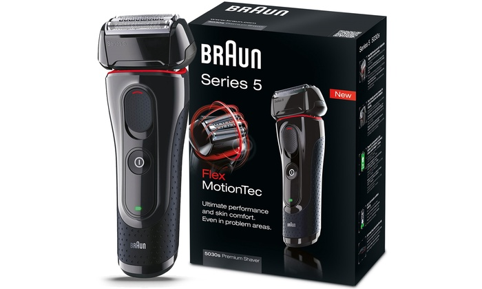 braun series 5 electric shaver with pop up trimmer groupon. Black Bedroom Furniture Sets. Home Design Ideas