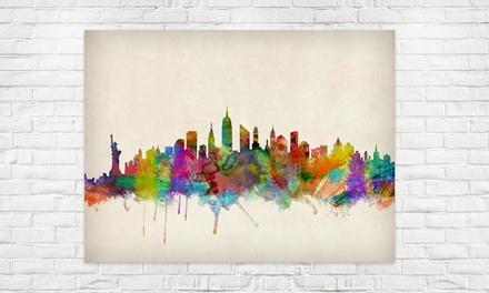 Poster con stampa delle città