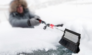 Car and Driver Extendable 3-in-1 Snow Brush, Scraper, and Squeegee