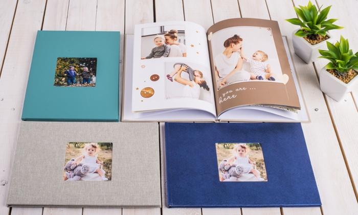 Fotobuch Exklusiv A4 mit Bildfenster und 28 bis zu 120 Seiten von Colorland (bis zu 78% sparen*)
