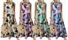 Printed Colourful Dot Sleeveless Round Neck Dress