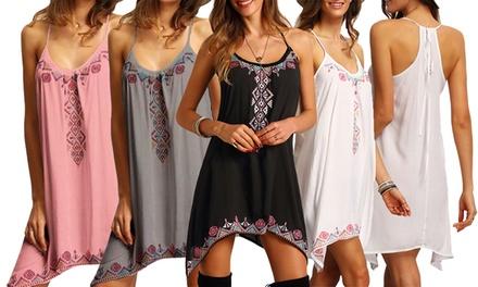 Exotische mouwloze jurk