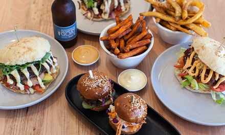 Burger Each, Chips and Beer Each for Two $29 or Four People $57 at Euro Grill Burleigh Heads Up to $105.60 Value