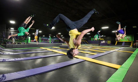 One 60-Minute Jump Pass or Flippin' Awesome Party at Get Air (Up to 40% Off). Three Options Available.