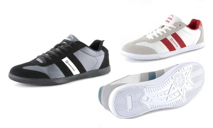 Alpine Swiss Haris Men's Retro Striped Fashion Sneakers