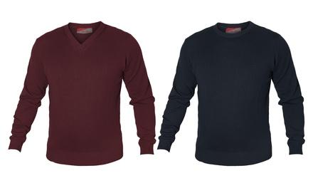 Maglione uomo Moniti misto lana fino a 7XL
