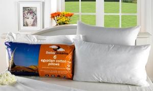Six Egyptian Cotton Pillows