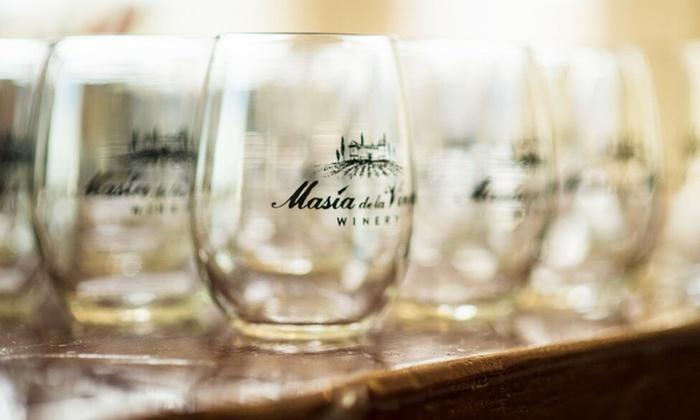 Masia de la Vinya - Morgan Hill: Wine-and-Cheese Pairings and Souvenir Wineglasses for Two or Four at Masia De La Vinya(Up to 53% Off)