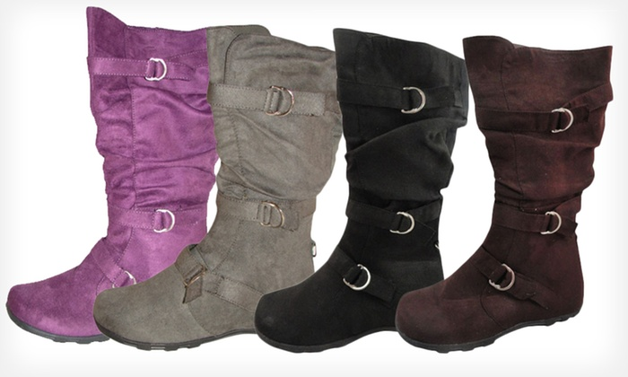Carrini Women's Three-Buckle Boots: $21.99 for Carrini Women's Three-Buckle Boots ($59 List Price). Multiple Colors. Free Shipping and Returns.
