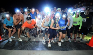 NiteRun: 5K NiteRun Entry with Headlamp and T-shirts for Two or Four on Saturday, October 10 (Up to 35% Off)